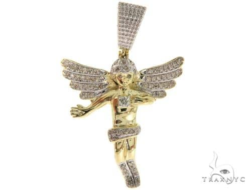 Micro Pave Diamond Angel Pendant 57065 Metal
