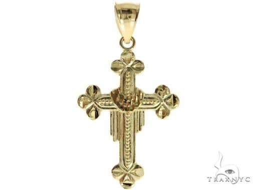 10K Yellow Gold Cross 57076 Gold