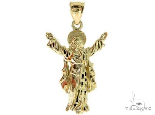 10K Yellow Gold Jesus Pendant 57085 Metal