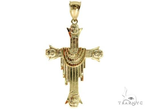 10K Yellow Gold Cross 57088 Gold
