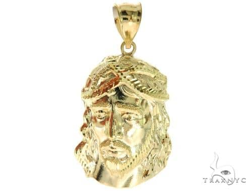 10K Yellow Gold Jesus Pendant L 57090 Metal