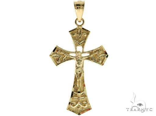 10K Yellow Gold Jesus Cross 57099 Gold