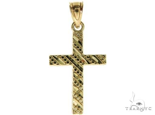 10K Yellow Gold Small Cross 57103 Gold