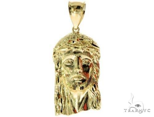 10K Yellow Gold Jesus Pendant L 57113 Metal