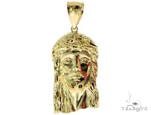 10K Yellow Gold Jesus Pendant XS 57119 Metal
