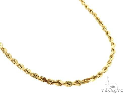 14K Yellow Gold Rope Chain 24 Inches 3mm 26.6 Grams 57171 Gold