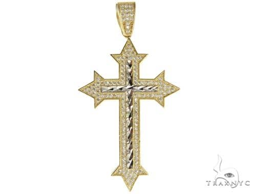 10K Two Tone Gold Cross 56647 Gold