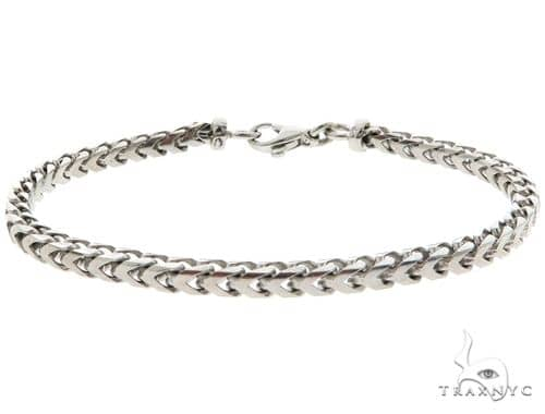 14K White Gold Franco Link Bracelet 57182 Gold