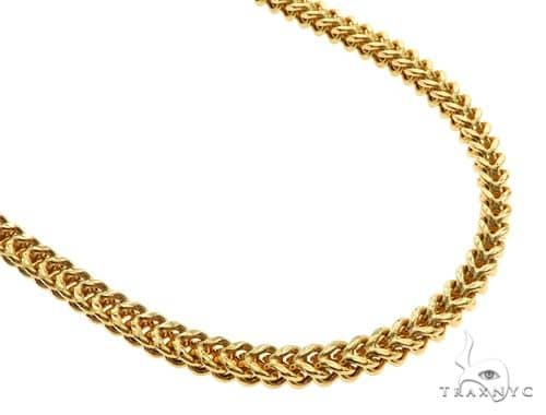 10K Yellow Gold Franco Chain 36 Inches 5mm 64 Grams 57213 Gold