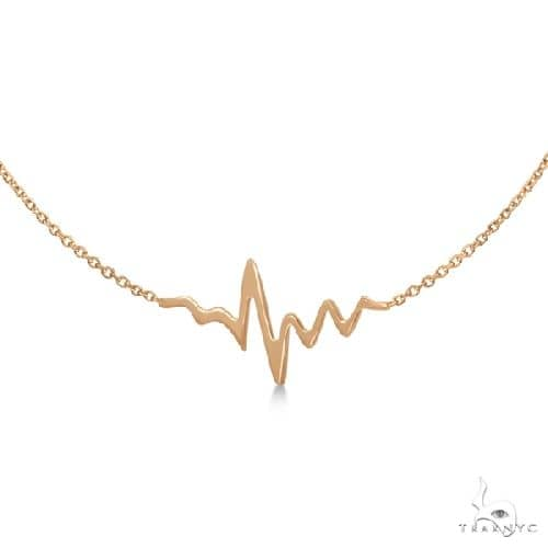 Heartbeat Bracelet in 14k Rose Gold Gold