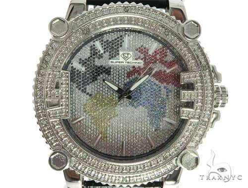 Prong Diamond Super Techno Watch M6348 57230 Special Watches