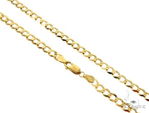 10Ky Cuban Curb Link Chain 30 Inches 5mm 15.2 Grams 57242 Gold