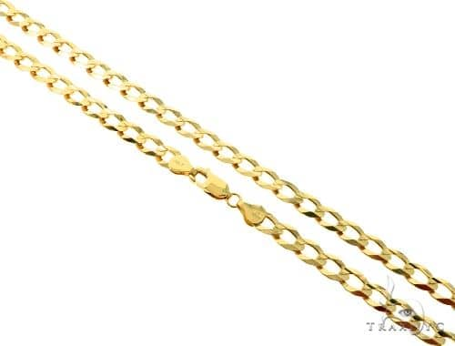 10KY Cuban Curb Link Chain 30 Inhces 7mm 30.50 Grams 57248 Gold