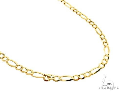 10KY Figaro Link Chain 26 Inches 5mm 12.3 Grams 57250 Gold