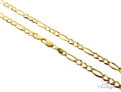 10KY Figaro Link Chain 30 Inches 5mm 14.20 Grams 57251 Gold