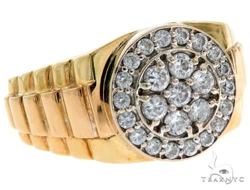 18K Yellow Gold Watch Ring 57263 Metal