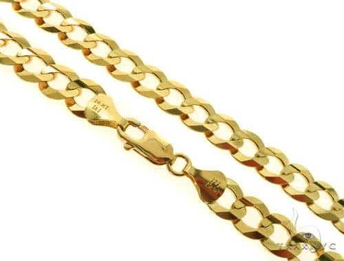 14KY Cuban Curb Link Chain 30 Inches 10mm 67.0 Grams 57296 Gold