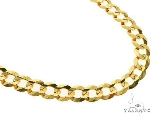 14KY Cuban Curb Link Chain 26 Inches 9mm 40.5 Grams 57280 Gold