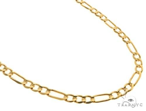 14KY Figaro Link Chain 26 Inches 4.5mm 14.3 Grams 57298 Gold