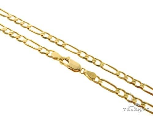 14KY Figaro Link Chain 20 Inches 4.5mm 12.1 Grams Gold