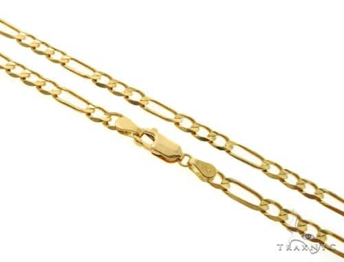 14KY Figaro Link Chain 22 Inches 4.5mm 12.7 Grams 57286 Gold