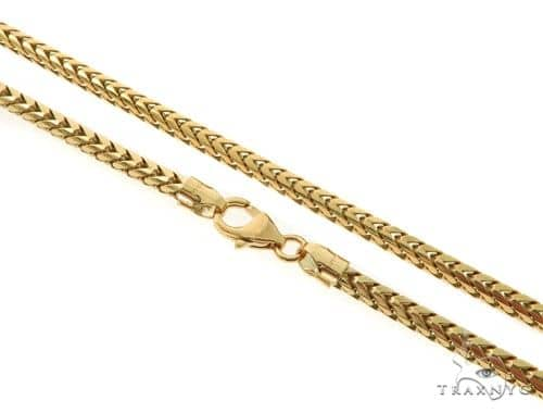 14KY Solid Franco Link Chain 24 Inches 4mm 45.8 Grams 57288 Gold