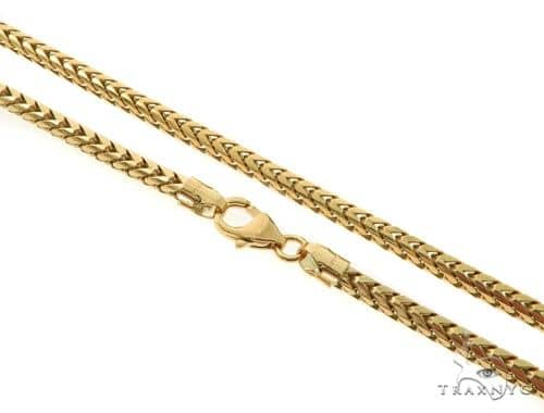 14KY Solid Franco Link Chain 26 Inches 4mm 49.8 Grams 57289 Gold