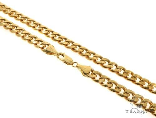 14KY Hollow Miami Cuban Link Chain 26 Inches 8mm 47.7 Grams 57291 Gold
