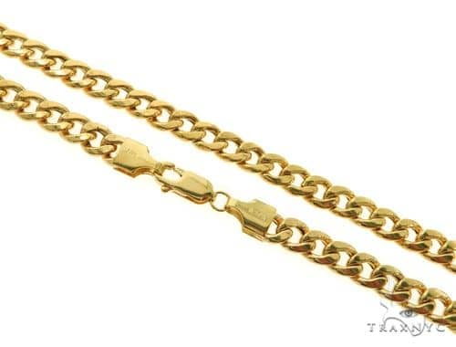 14KY Hollow Miami Cuban Link Chain 30 Inches 6mm 28.4 Grams 57292 Gold