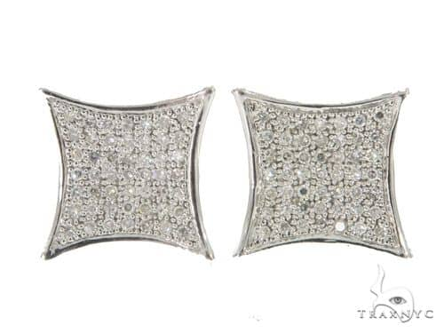 14KW Prong Diamond Earrings 57307 Stone