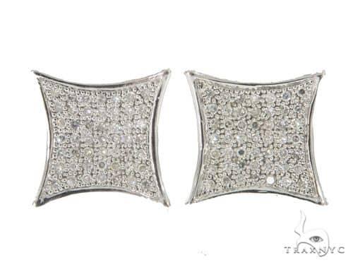 14KW Prong Diamond Earrings 57307 Stone