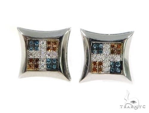 14K Cross Diamond Earrings 57387 Stone