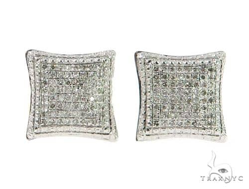 10K Prong Diamond Earrings 57393 Stone