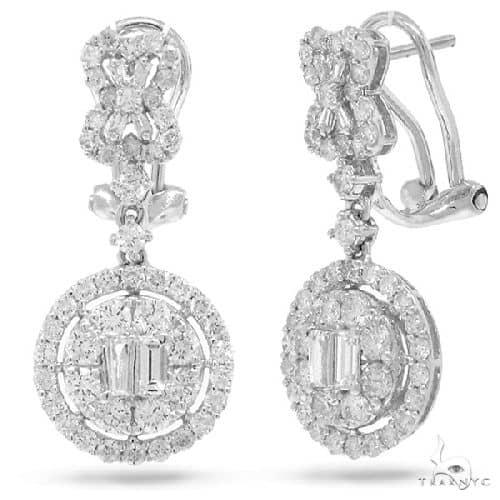 18k White Gold Diamond Earrings Stone