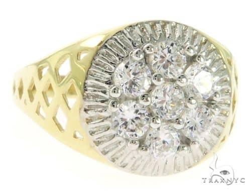 Yellow 10K Gold CZ Ring 57413 Metal