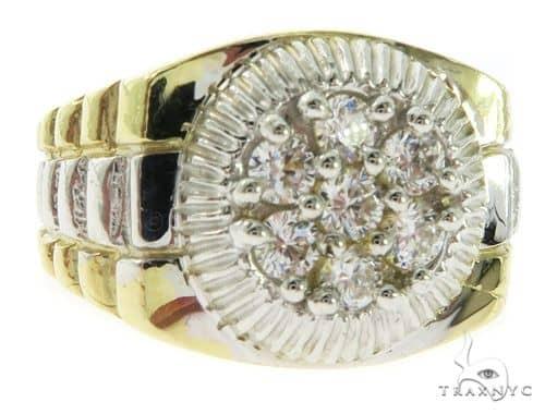 10K Yellow Gold Watch Band 57414 Stone