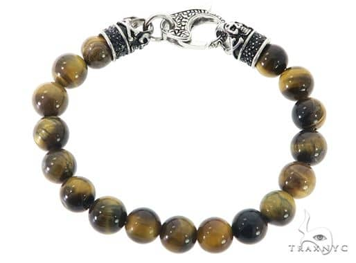 Tiger Eye Bracelet 57428 Stainless Steel