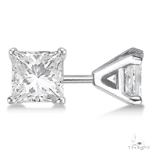Martini Princess Diamond Stud Earrings 14kt White Gold G-H, VS2-SI1 Stone