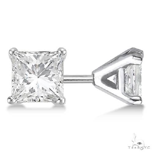 Martini Princess Diamond Stud Earrings 14kt White Gold G-H, VS2-SI1 Stone