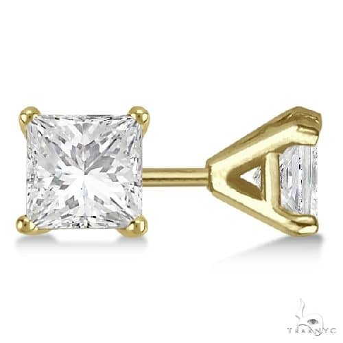 Martini Princess Diamond Stud Earrings 14kt Yellow Gold G-H, VS2-SI1 Stone