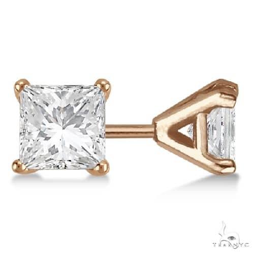 Martini Princess Diamond Stud Earrings 14kt Rose Gold G-H, VS2-SI1 Stone