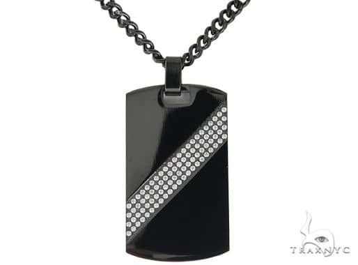 Stainless Steel Dog Tag Chain Set 57586 Metal