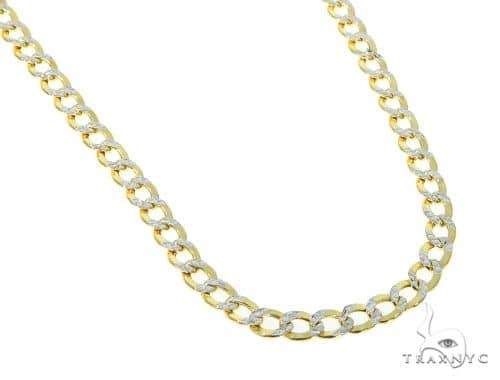 10KY Hollow Cuban Link Diamond Cut Chain 26 Inches 5mm 9.60 Grams 57610 Gold