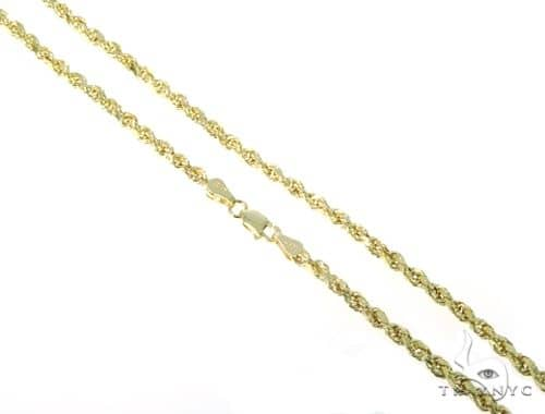 10KY Hollow Rope Chain 24 Inches 3mm 5.10 Grams 57617 Gold