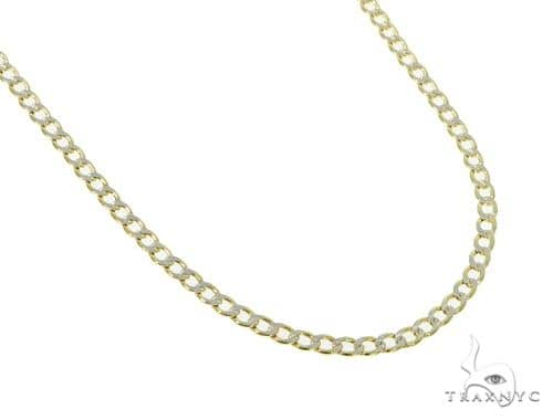 10KY Hollow Cuban Link Diamond Cut Chain 18 Inches 2.5mm 2.3 Grams 57630 Gold