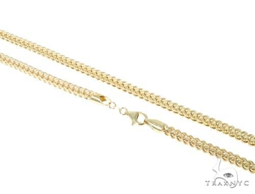 10KY Hollow Franco Link Chain 26 Inches 4mm 19 Grams 57637 Gold