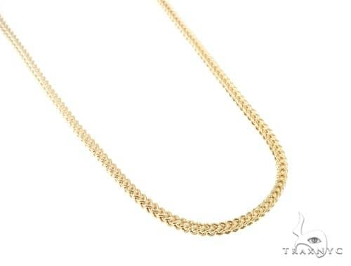 10KY Hollow Franco Link Chain 32 Inches 4mm 22.2 Grams 57640 Gold
