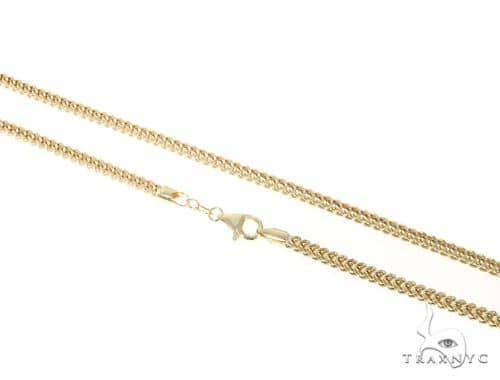 10KY Hollow Franco Link Chain 24 Inches 3mm 10.9 Grams 57642 Gold