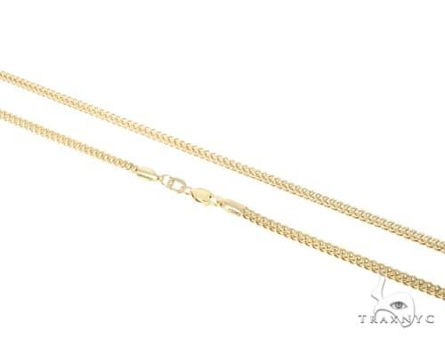 10KY Hollow Franco Link Chain 24 Inches 2mm 8.00 Grams 57651 Gold