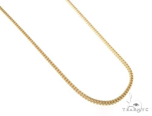 10KY Hollow Franco Link Chain 28 Inches 2mm 9.40 Grams 57653 Gold